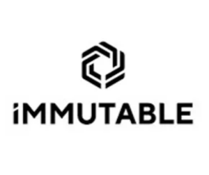 immutable logo in black and white