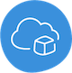 well-architected foundation icon, cloud and box