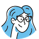 icon of girl smiling with glasses avatar